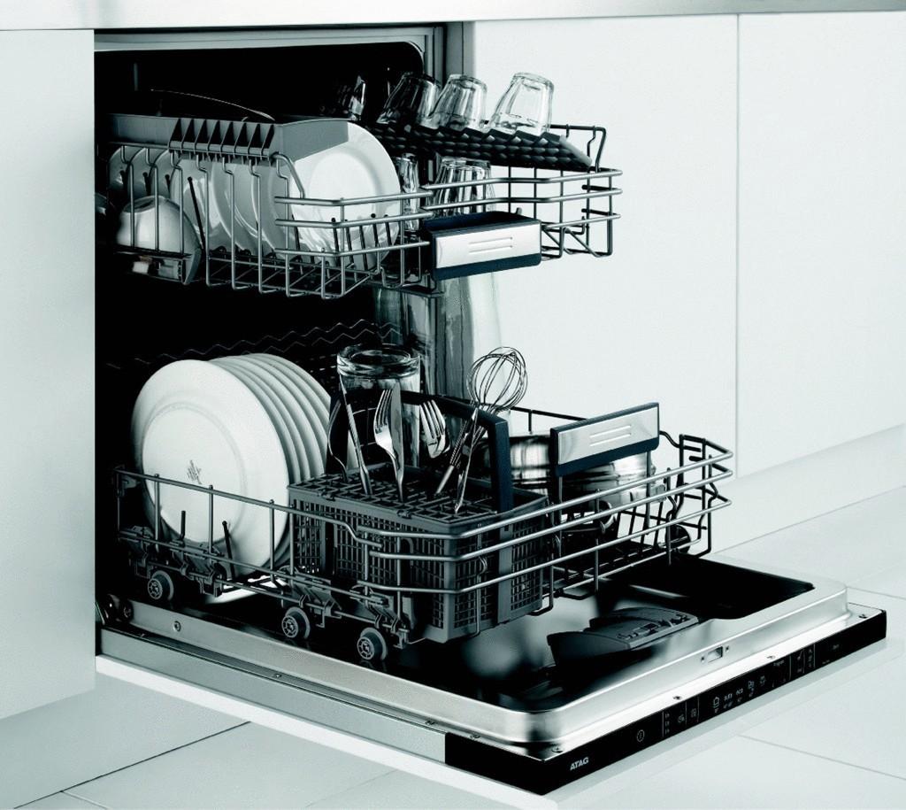 видео работы посудомоечной машины