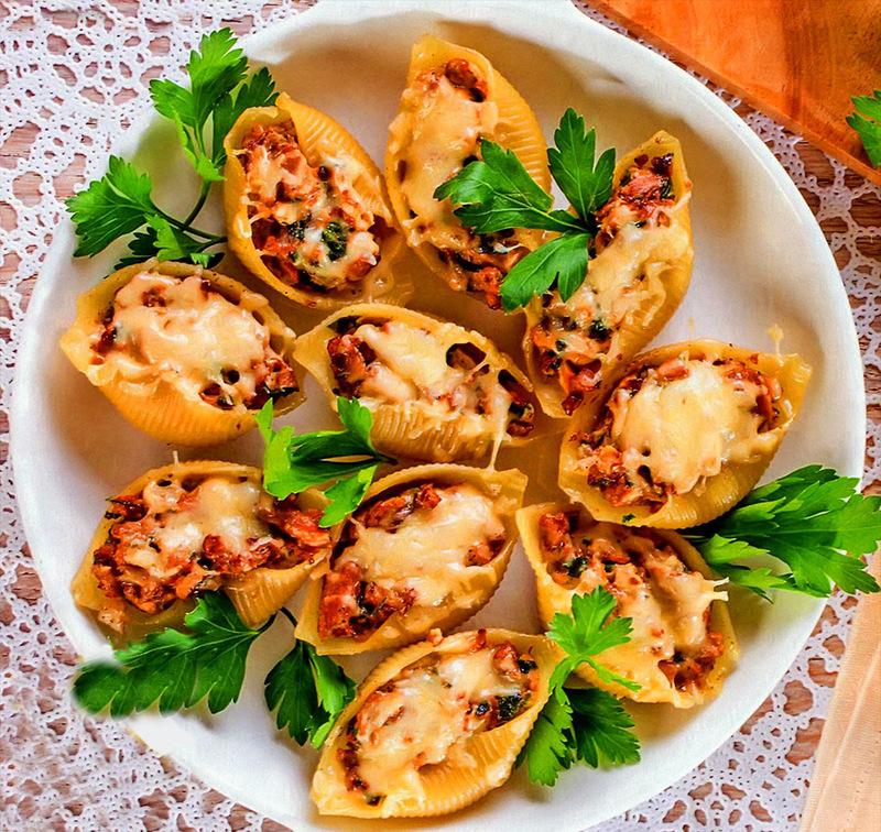 Ракушки фаршированные рецепт пошаговое