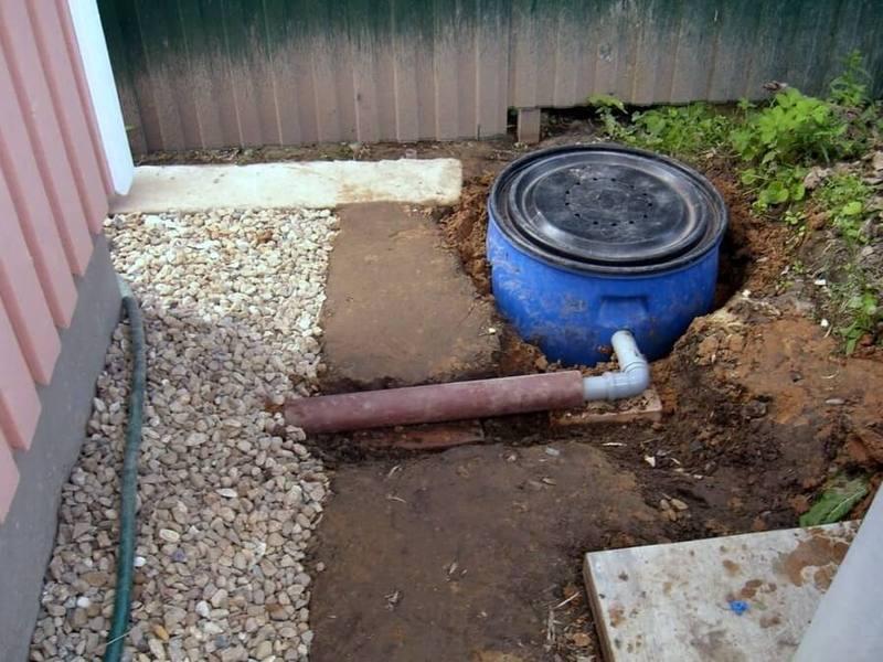 Отвод воды от дачного дома своими руками