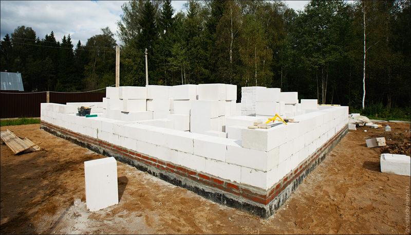 Фундамент строительство дома из газобетона  видео