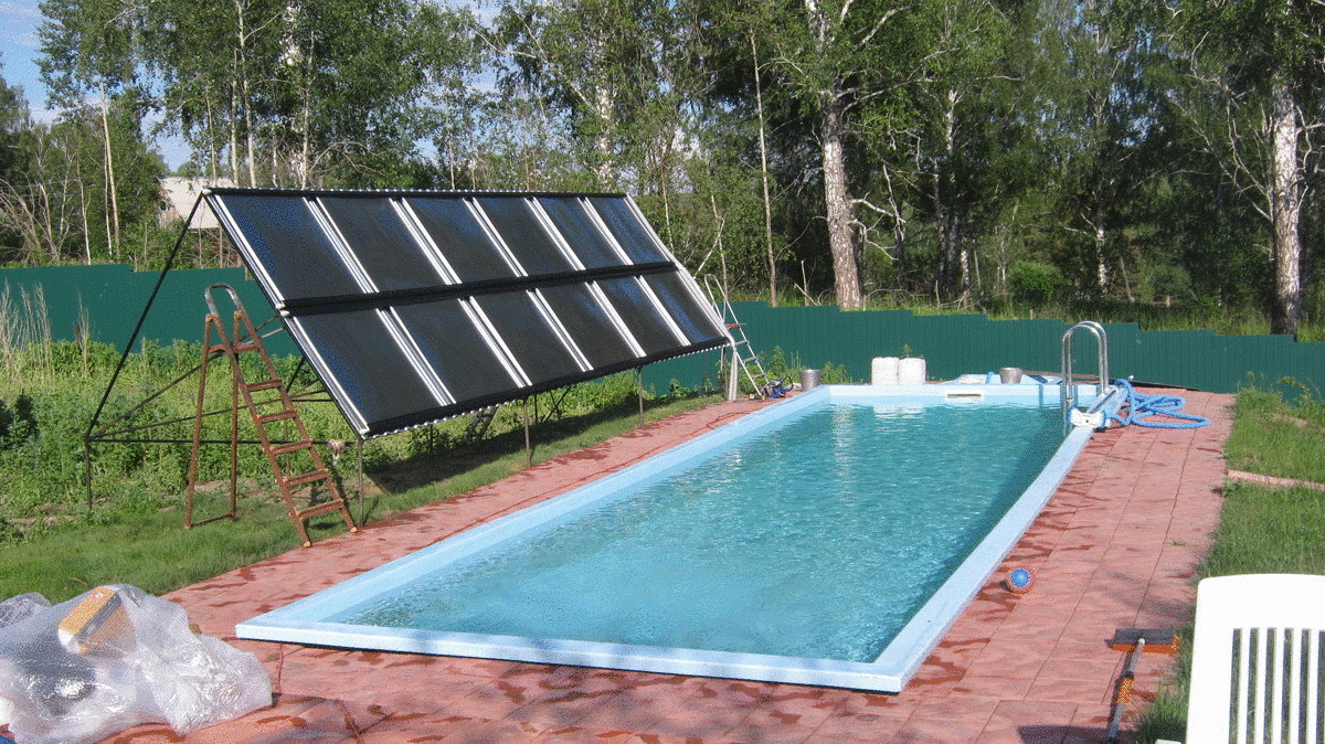 Солнечный нагреватель воды в бассейне своими руками